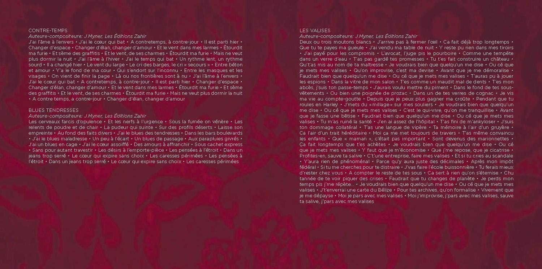 "Booklet ""Les Valises"" page 2"