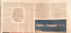 L'Éden de Janie Renée dans le journal Le Carillon, 26 février 2016